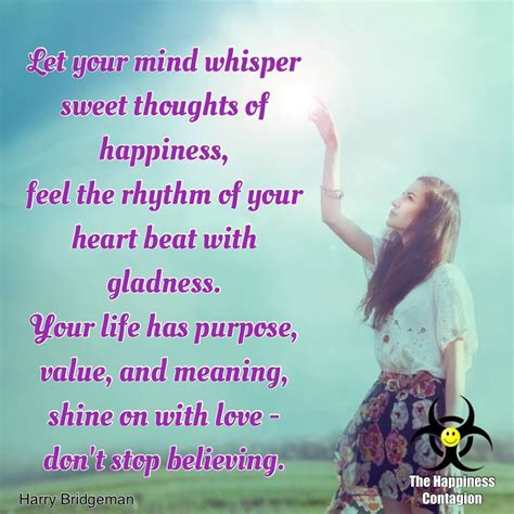 Let Your Mind Whisper Sweet Thoughts Of Happiness Pictures ...