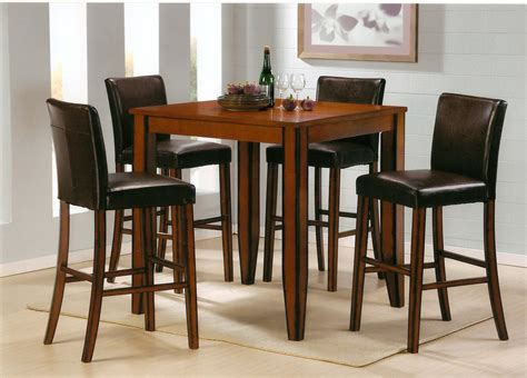 Tall Square Bistro Table  Small Traditional Wood