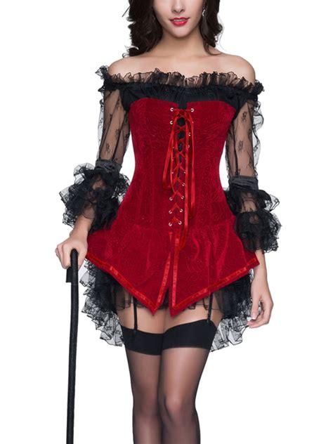 alerte en cuisine robe courte en dentelle avec bustier pirate