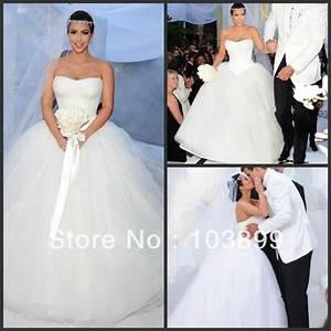 custom made kim kardashian wedding dress strapless lace With kim kardashian wedding dress price