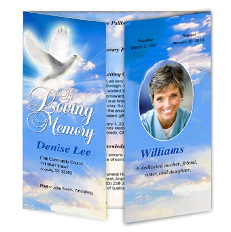 template superstore  funeral program site creates