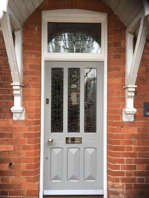 edwardian entrance door painted in farrow ball s manor