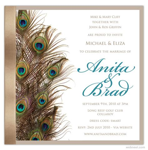 simple beautiful wedding card designs  full image