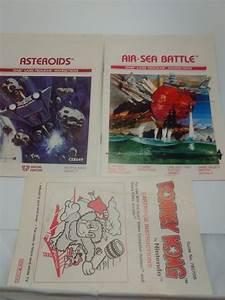 9 Vintage Instruction Manuals Guide Cartridge Atari