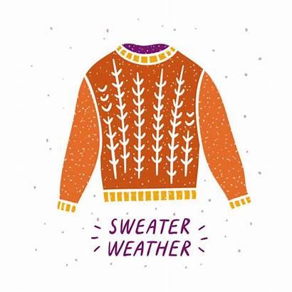 Sweater Cozy Graphic Hygge Illustrations Clip Vector