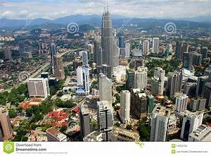 Kuala Lumpur, Malaysia: Panoramic View Of City Editorial ...