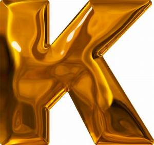 presentation alphabets lumpy gold letter k With gold letter k