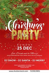 Royalty free Vector Christmas Party design template