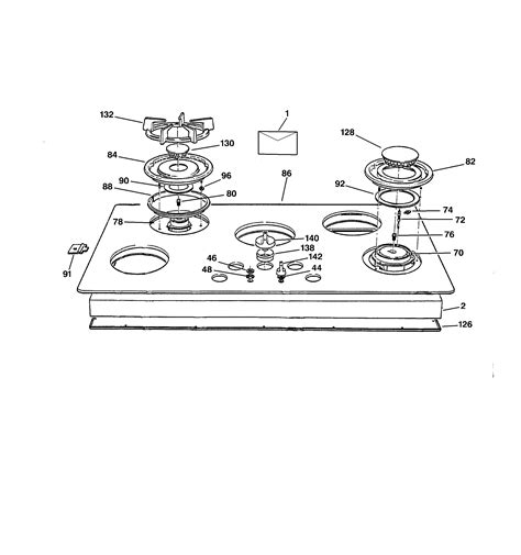 ge cooktop parts ge gas cooktop parts model zgu665bex1bg sears partsdirect