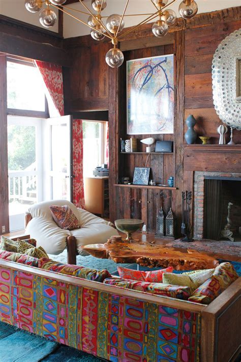 bohemian house design boho modern living space
