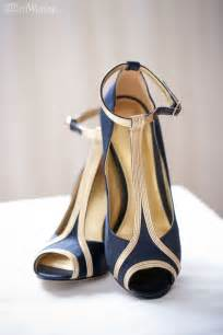 navy wedding shoes nine west navy and gold wedding shoes 1920s heels 1920s navy gold glam wedding inspiration