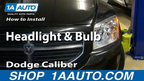 install change headlight  bulb   dodge