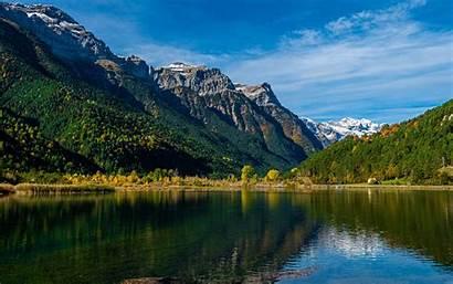 4k Nature Summer Mountains Europe Lake Spain