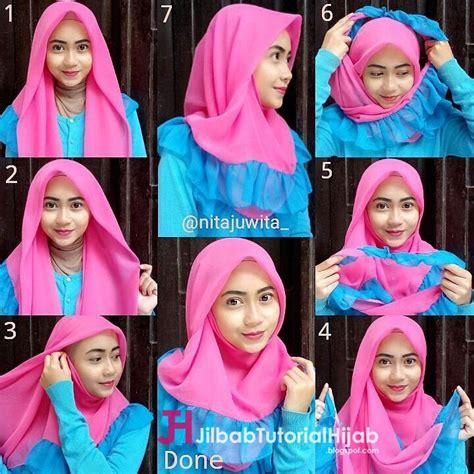 tutorial hijab segi empat simple tapi mewah  elegant jilbab tutorial hijab