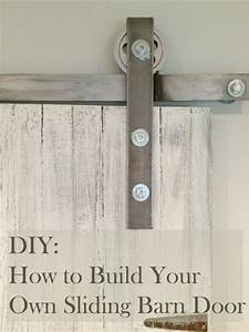 learn how to make your own sliding barn door all i did With build your own barn door hardware