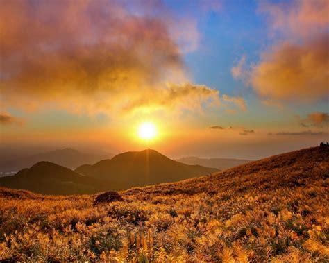 nature landscapes sunset sunrise skies sun sunlight clouds