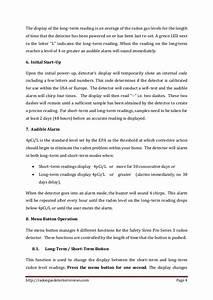 Safety Siren Pro Series 3 Radon Gas Detector User Guide
