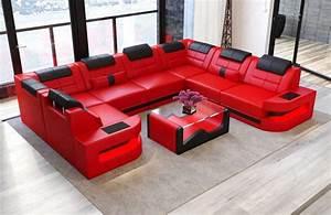Couch In U Form : couch u form como in leder mit led beleuchtung kaufen bei pmr handelsgesellschaft mbh ~ Markanthonyermac.com Haus und Dekorationen