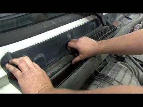 cafxl cabin air install volvo vn series  hood