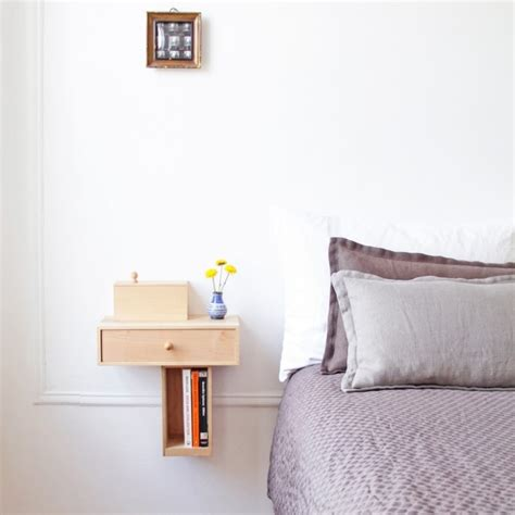 Wall Mounted Bedside Shelf With Drawer