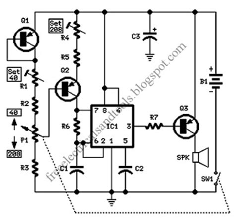 electronic metronome circuit circuit coll