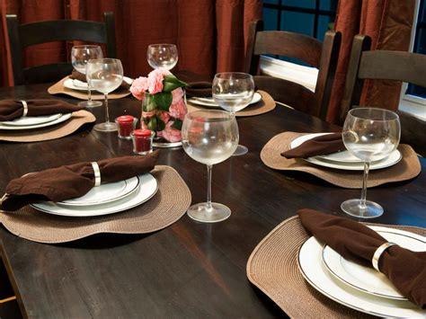 simple dinner table setting ideas elegant everyday table settings hgtv