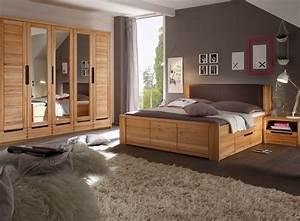 Komplett Schlafzimmer : charles komplett schlafzimmer kernbuche teilmassiv ~ Pilothousefishingboats.com Haus und Dekorationen