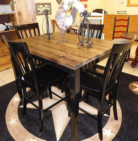 farm house pub table with four chairs repurposed table