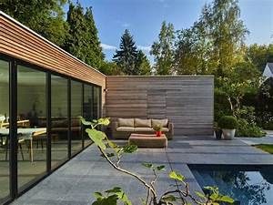Pool House Toit Plat : poolhouse en bois exotique padouk avec ch ssis ~ Melissatoandfro.com Idées de Décoration