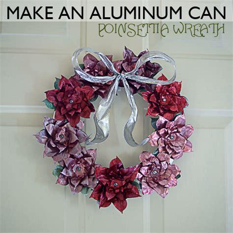 aluminum  poinsettia wreath
