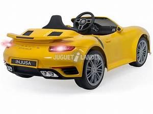 Turbo Electrique Voiture : acheter voiture batterie porsche 911 turbo s 6v jaune injusa 7182 juguetilandia ~ Melissatoandfro.com Idées de Décoration
