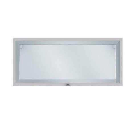 photo de meuble de cuisine elia meuble de cuisine haut court 1 porte vitrée blanc
