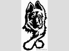 Animal Dog Portrait German Shepherd ReadyToCut