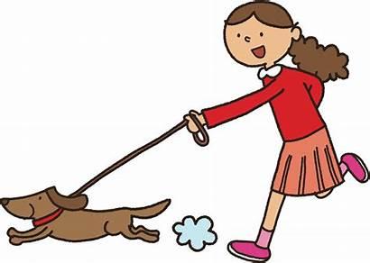 Walking Dog Clipart Cartoon Clip Puppy Human