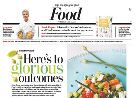 article cuisine food section newspaper in education