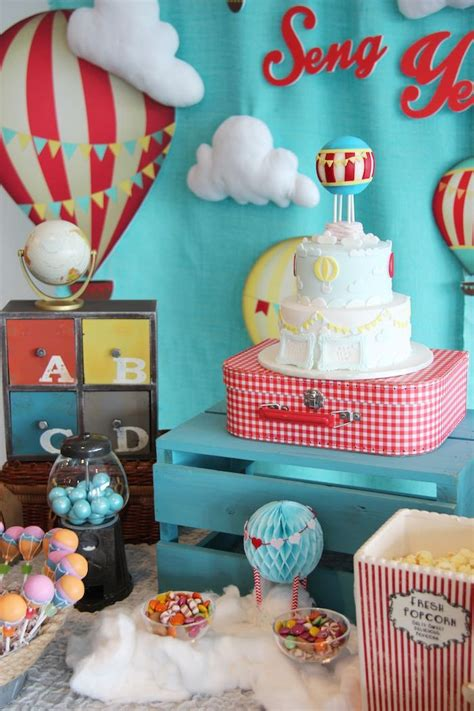 Growing Up Up Up Hot Air Balloon Birthday Party