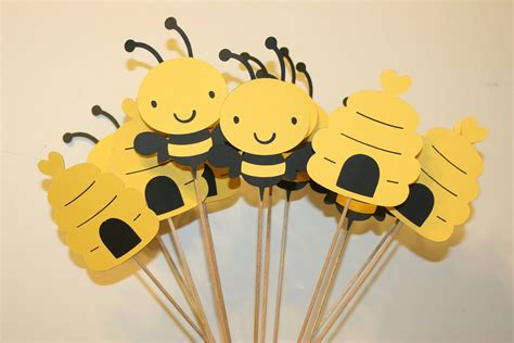 Set Of 12 Bumble Bee Table Decorations Centerpieces Great
