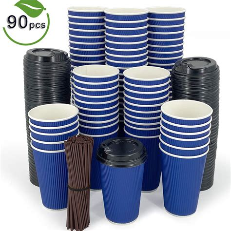 Alibaba.com offers 8,495 paper coffee cups with lids products. Paper Coffee Cups With Lids Disposable 90 Pack 16oz for ...
