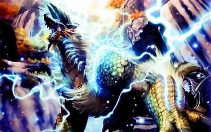 Hunter Monster Zinogre Anime Wallpapers Px Effects