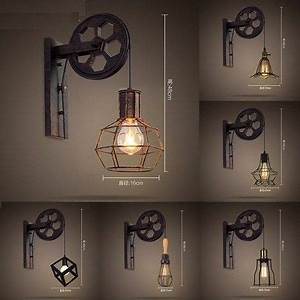 Luminaire Fait Maison : style loft edison applique murale creative de levage ~ Melissatoandfro.com Idées de Décoration