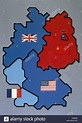 Map of Allied-occupied Germany. 1945-1949 Stock Photo ...