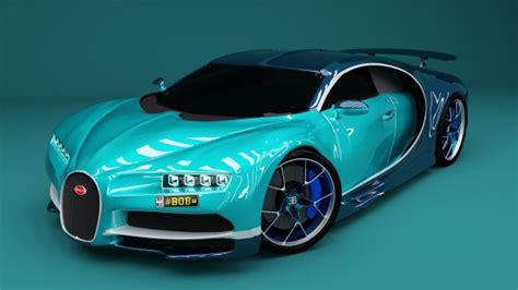 Models Sports Car by Bugatti Chiron 2017 Sports Car Free 3d Model Obj Blend