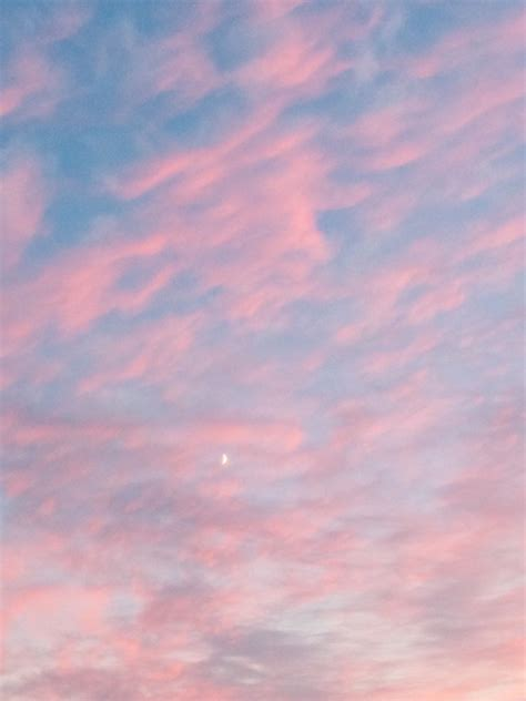 blue cool    love moon pink sky