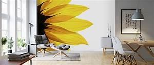 Sunflower, Detail, U2013, Trendy, Wall, Mural, U2013, Photowall, In, 2020