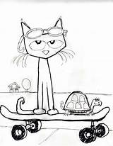 Pete Cat Coloring Template His Magic Sheets Sunglasses Books Activities Cats Dean Kimberly Clipart Coolest James Printable Shoes Preschool Activity sketch template