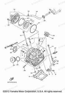 Yamaha Motorcycle 2010 Oem Parts Diagram For Cylinder Head