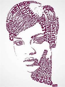 typography portraits of song lyrics