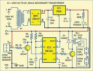 Simple Motion Detector Using Ne555 Timer