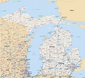 Michigan Map | Digital Vector | Creative Force