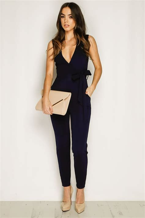 Millie Navy Sleeveless Jumpsuit | Navy Clothes and Dream closets